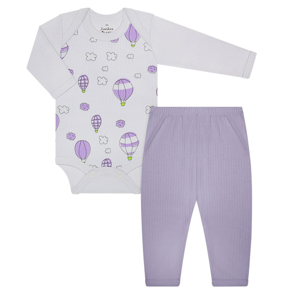 JUN30129-BL-A-moda-bebe-menina-body-longo-calca-malha-algodao-baloes-lilas-junkes-baby-no-bebefacil