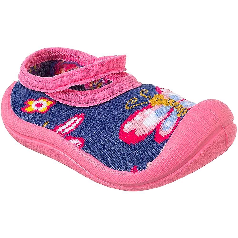 KB22046-5-A-Meia-c-Sola-para-bebe-Borboletinha-Rosa-Marinho---Keto-Baby