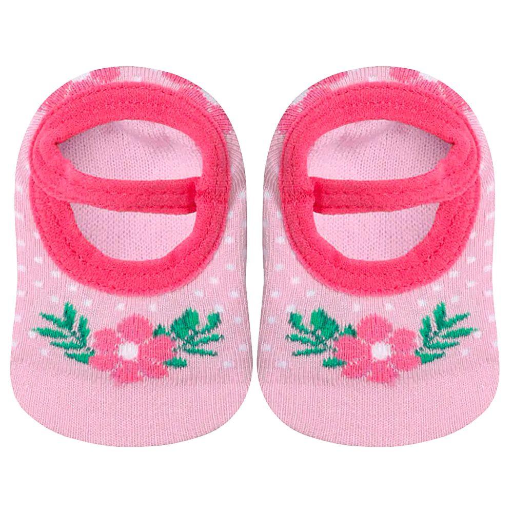 LU02011-068.5430-A-bebe-menina-meia-sapatilha-atoalhada-florzinha-rosa-lupo-no-bebefacil