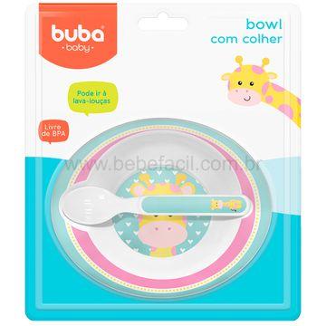 BUBA10708-E-Bowl-com-Colher-Animal-Fun-Girafinha-6m---Buba