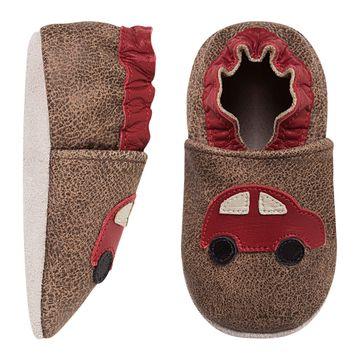 BABO94-A-Tenis-Carrinho-para-bebe-em-couro-Eco-Carrinho-Stone-Vermelho---Babo-Uabu