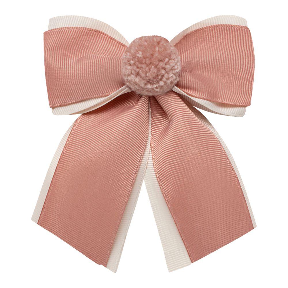 0123111032-A-acessorios-menina--presilha-maxi-laco-pompom-rose-marfim-roana-no-bebefacil-loaj-de-roupas-para-bebes