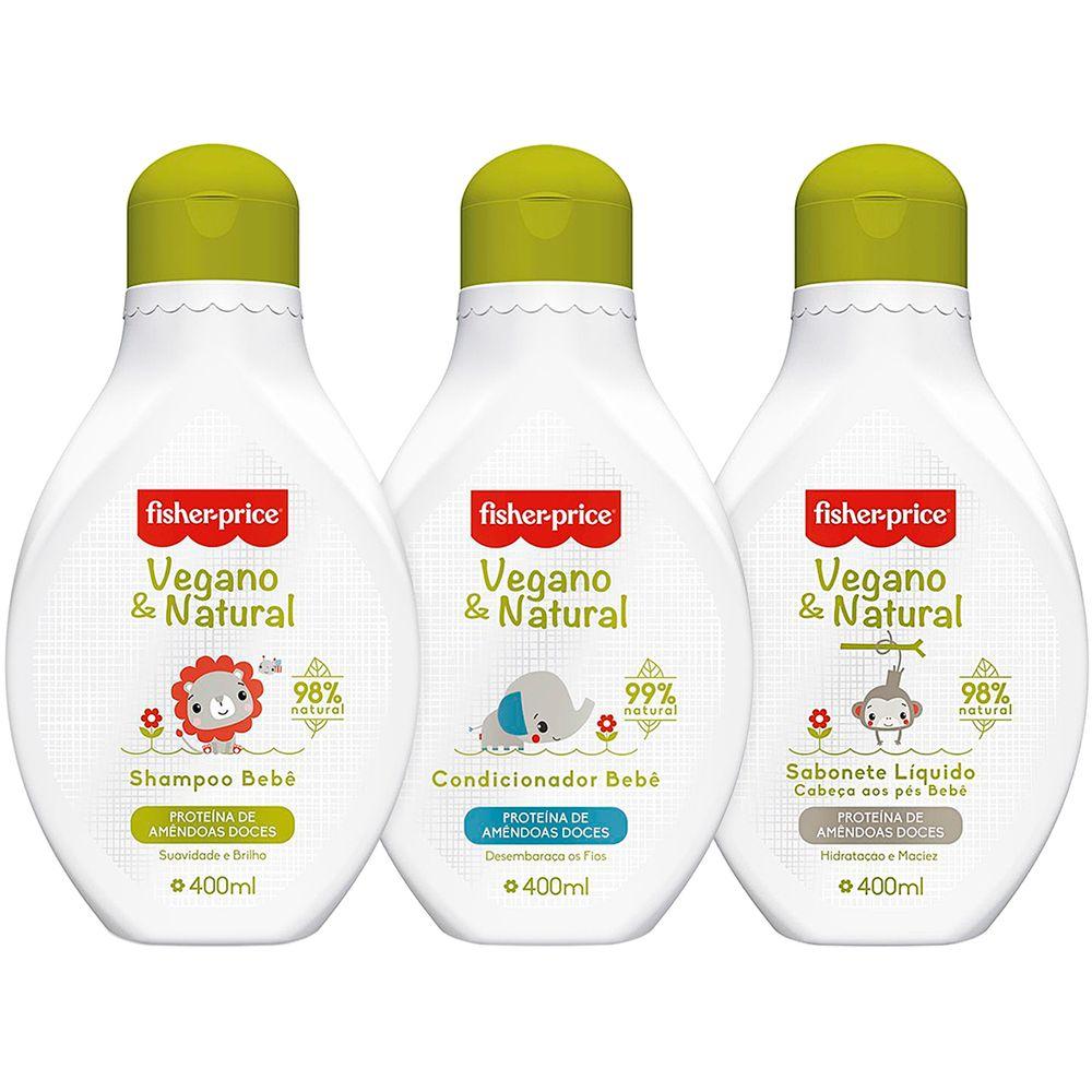 89108-89109-89110-A-Kit-de-Banho-Shampoo-Condicionador-Sabonete-Liquido-Bebe-Vegano-e-Natural-400ml-0m---Fisher-Price