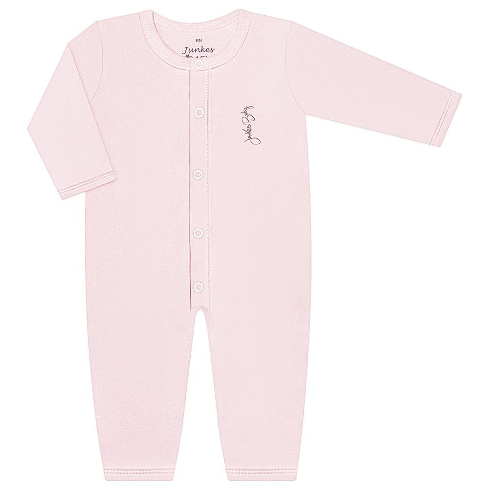JUN20115-RS-A-moda-bebe-menina-macacao-longo-em-suedine-rosa-junkes-baby-no-bebefacil