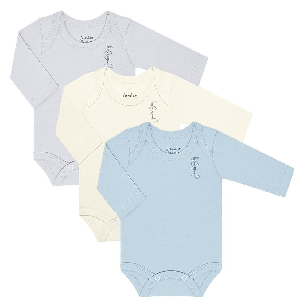 JUN21108-A-moda-bebe-menino-kit-3-bodies-longos-em-suedine-mescla-off-white-azul-junkes-baby-no-bebefacil