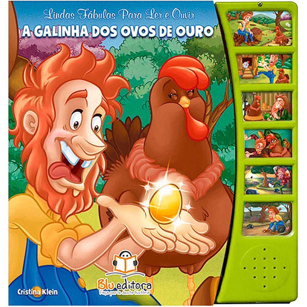 BLU647-A-Livro-Lindas-Fabulas-para-Ler-e-Ouvir-A-Galinha-dos-Ovos-de-Ouro---Blu-Editora