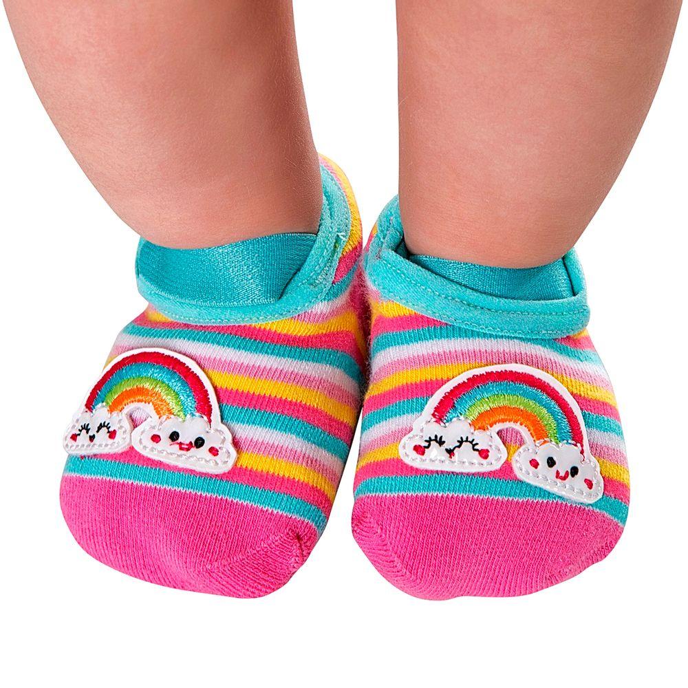 LK072.001-AI-A-moda-bebe-menina-meia-sapatilha-arco-iris-leke-no-bebefacil