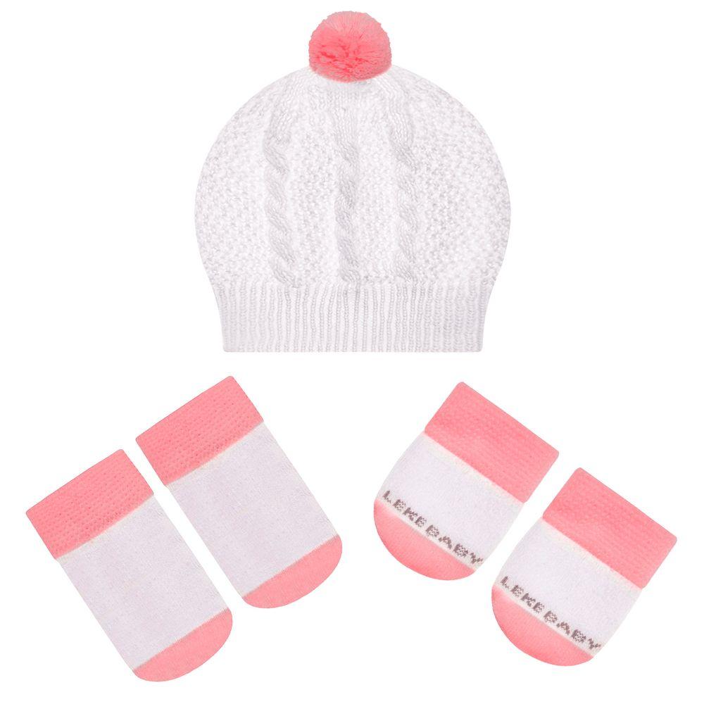 LK402.001-02-A-moda-bebe-menina-acessorios-kit-touca-luva-sapatinho-em-tricot-rosa-leke-no-bebefacil