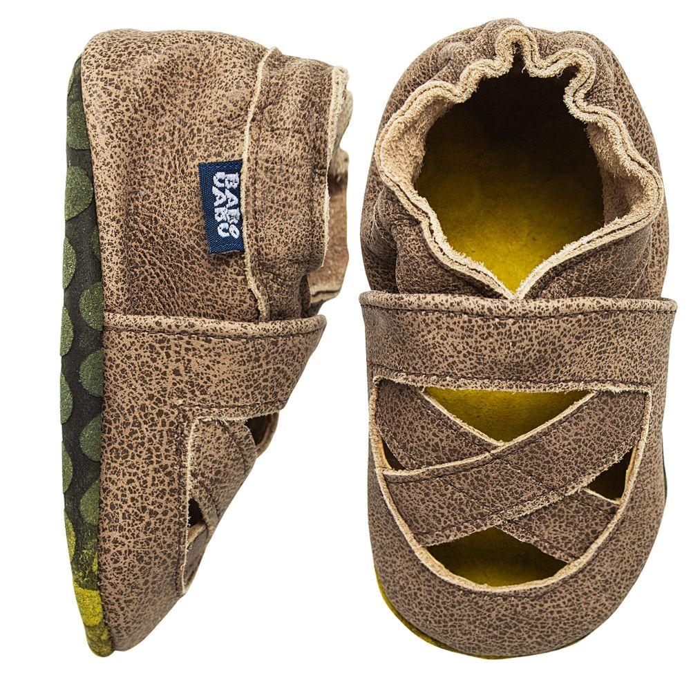 BABO103-A-Sandalia-X-para-bebe-em-couro-Eco-Marrom---Babo-Uabu