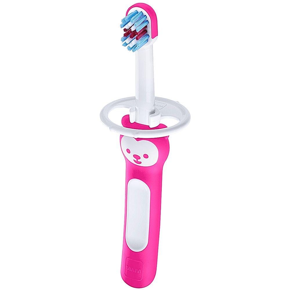 MAM8114-B-A-Escova-de-Dentes-Babys-Brush-Rosa-6m---MAM