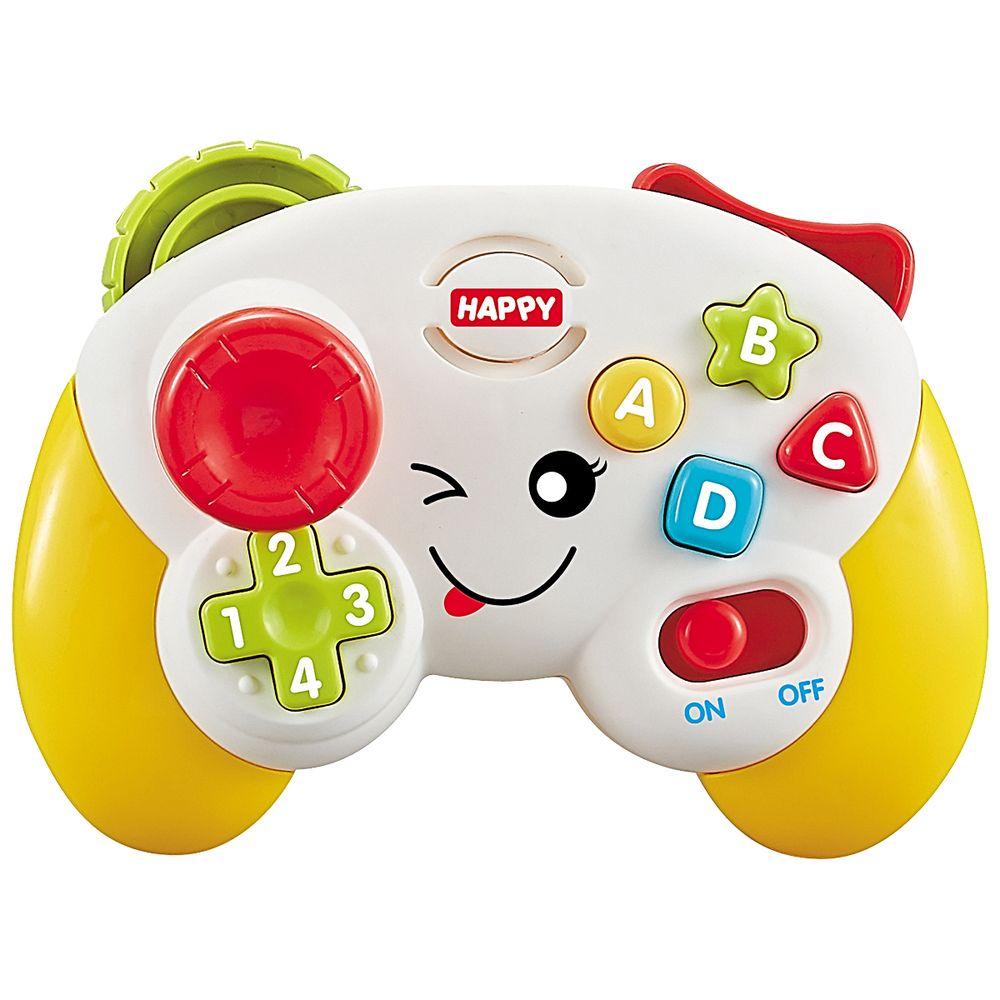 BR1088-A-Meu-Primeiro-Controle-com-Luz-e-Som-Amarelo-18m---Multikids-Baby