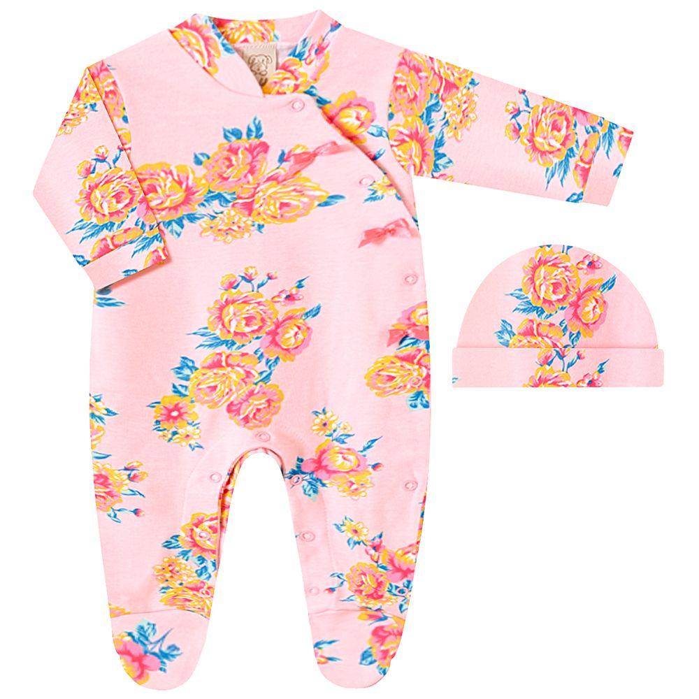 PL66773-A-moda-bebe-menina-macacao-longo-com-touca-suedine-floral-sunset-pingo-lele-no-bebefacil
