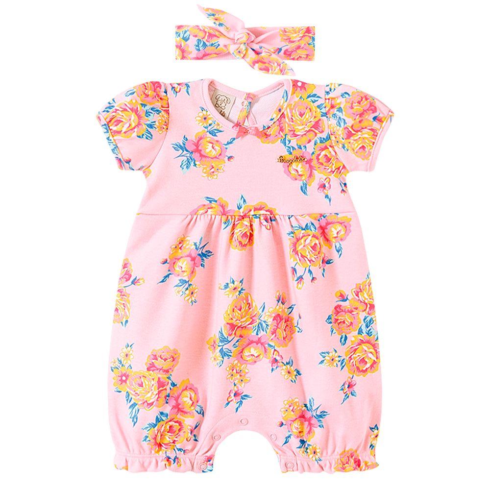 PL66776-A-moda-bebe-menina-macacao-curto-com-faixa-suedine-floral-sunset-pingo-lele-no-bebefacil