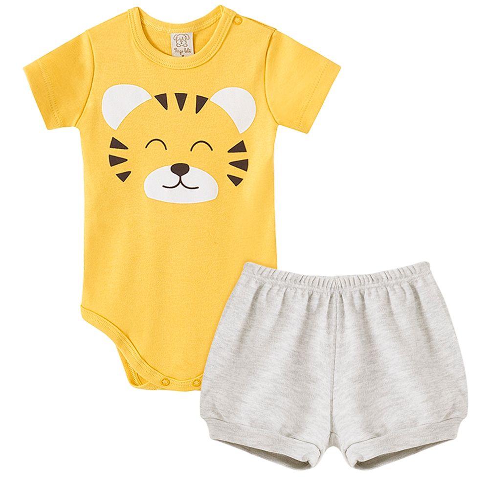 PL66824-A-moda-bebe-menino-conjunto-body-curto-shorts-suedine-tigre-pingo-lele-no-bebefacil