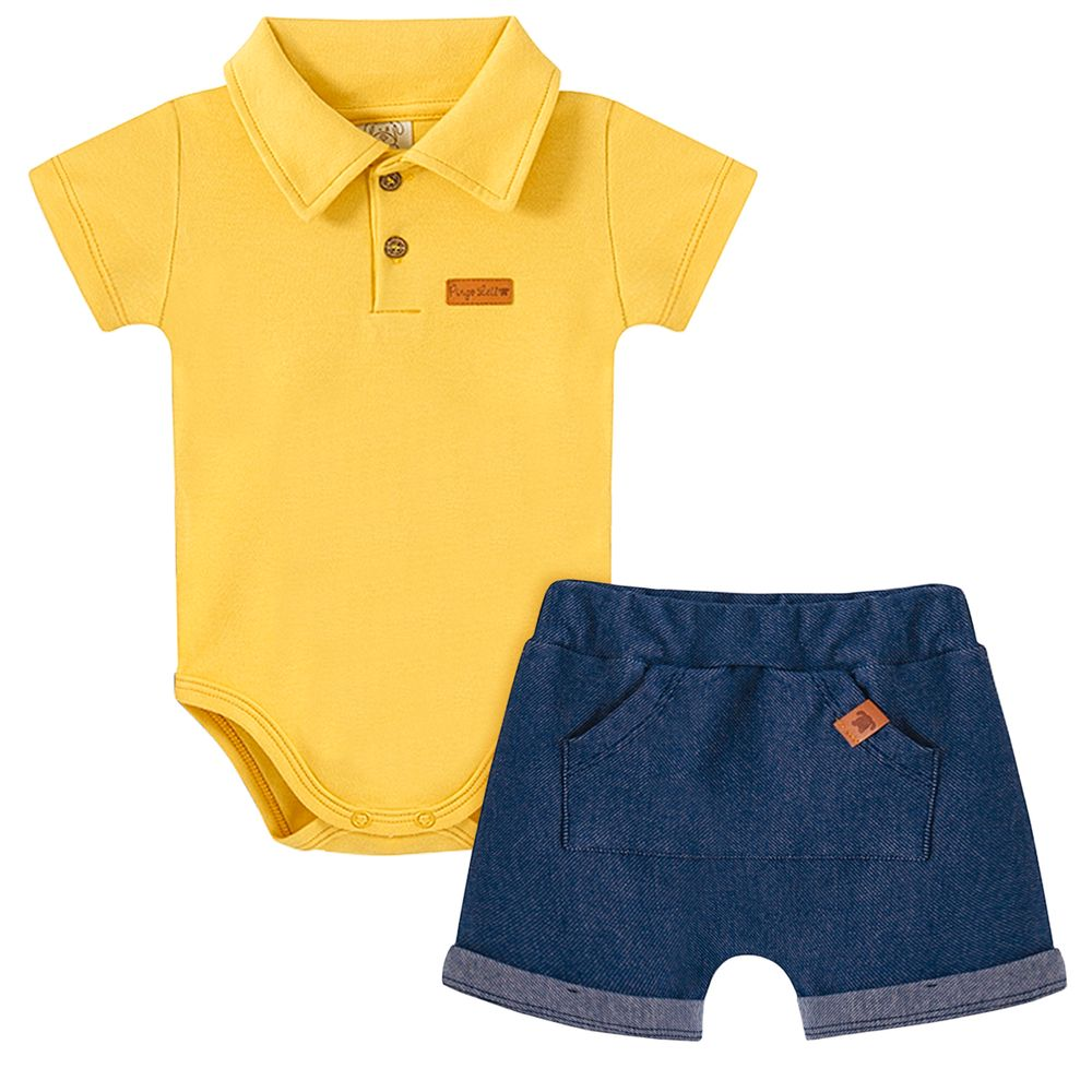 PL66826-A-moda-bebe-menino-conjunto-body-polo-shorts-jeans-suedine-tigre-pingo-lele-no-bebefacil