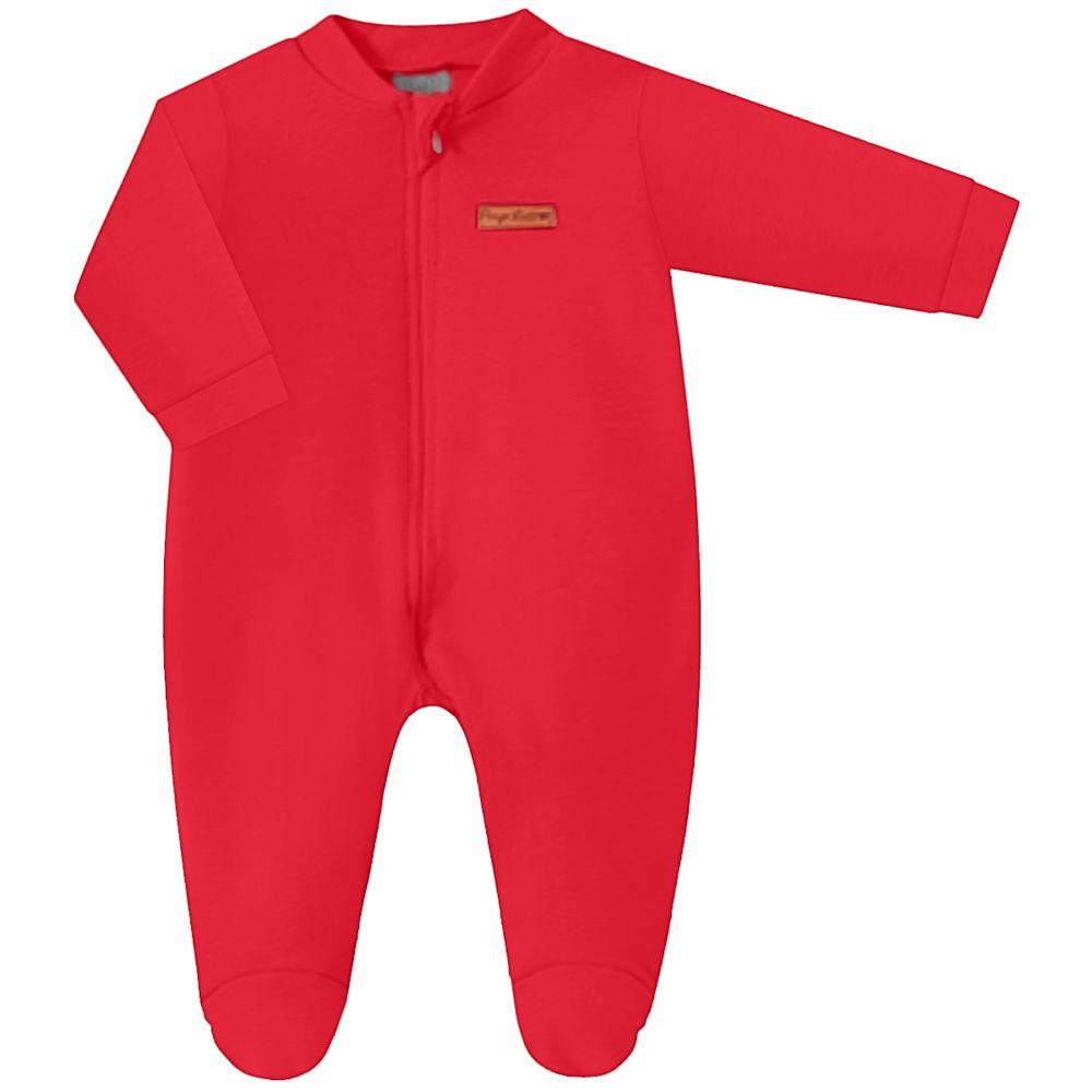 PL66858.087-A-moda-bebe-menina-menino-macacao-longo-ziper-suedine-vermelho-pingo-lele-no-bebefacil
