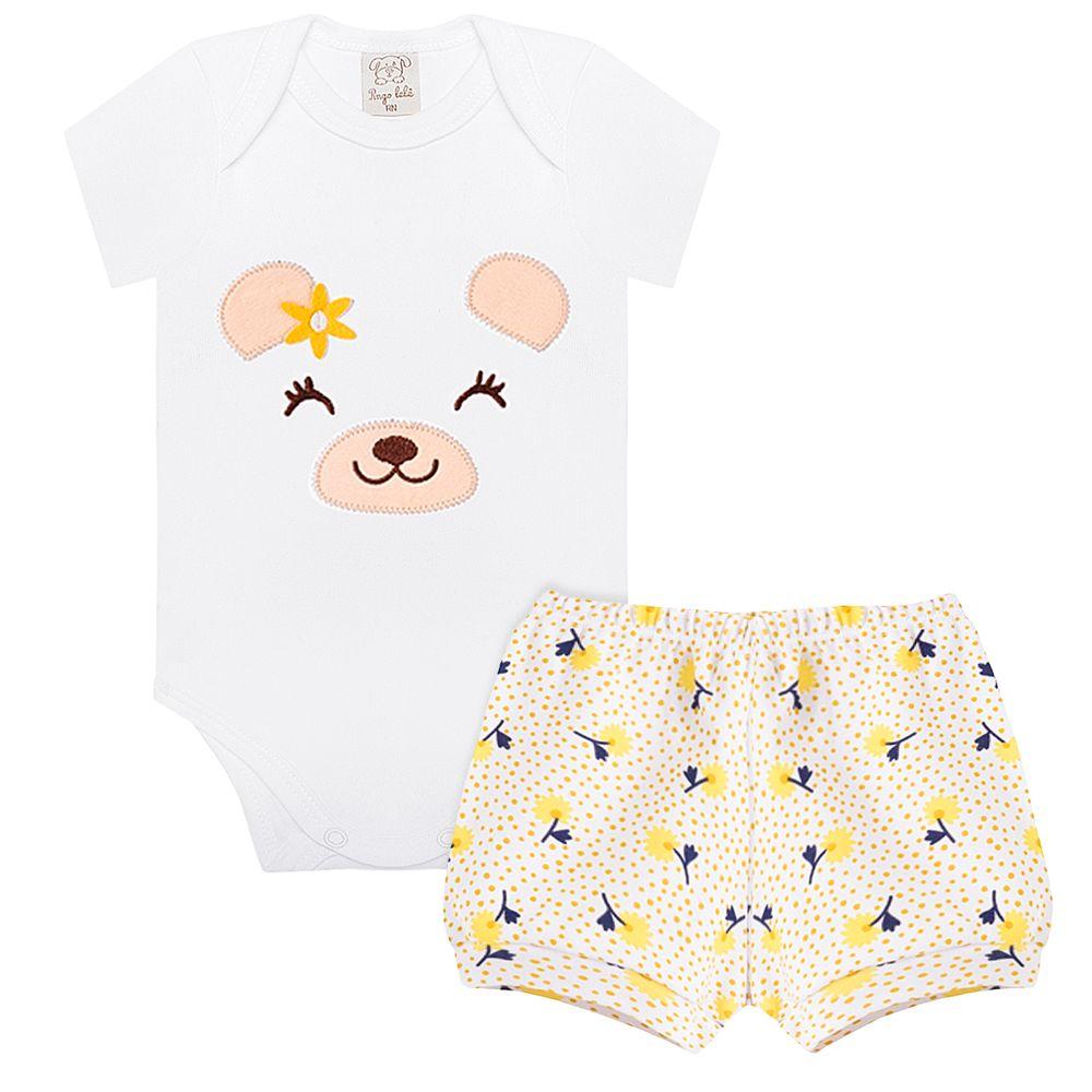 PL66756-A-moda-bebe-menina-conjunto-body-curto-shorts-suedine-margarida-pingo-lele-no-bebefacil