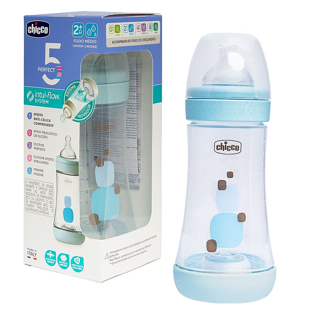 CH1033-A-Mamadeira-Perfect-5-240ml-Fluxo-Medio-Azul-2m---Chicco