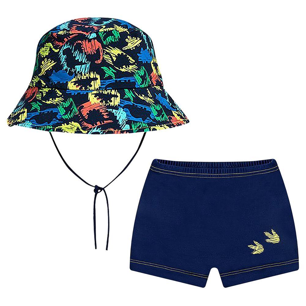 1385105-A-moda-praia-menino-conjunto-de-banho-shorts-chapeu-bucket-dino-tip-top-no-bebefacil