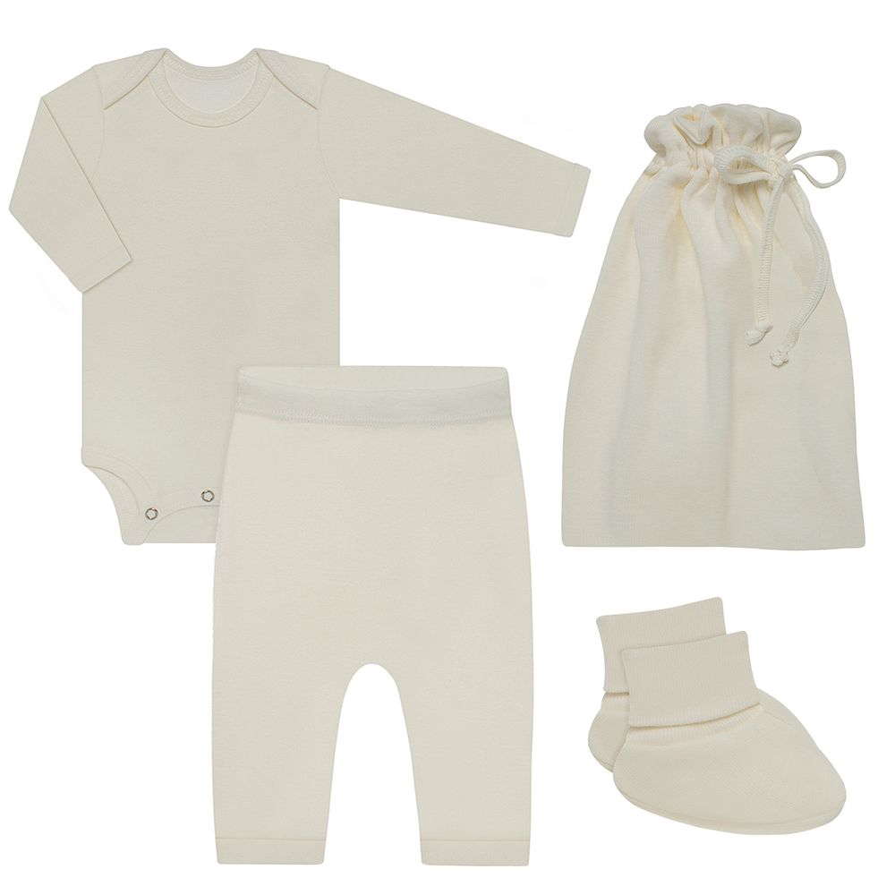 BBG1252018-A-moda-bebe-menina-menino-kit-comfy-body-longo-calca-saruel-pantufa-saquinho-em-suedine-marfim-baby-gut