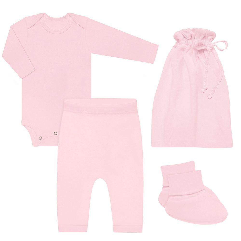 BBG1252019-A-moda-bebe-menina-kit-comfy-body-longo-calca-saruel-pantufa-saquinho-em-suedine-rosa-baby-gut