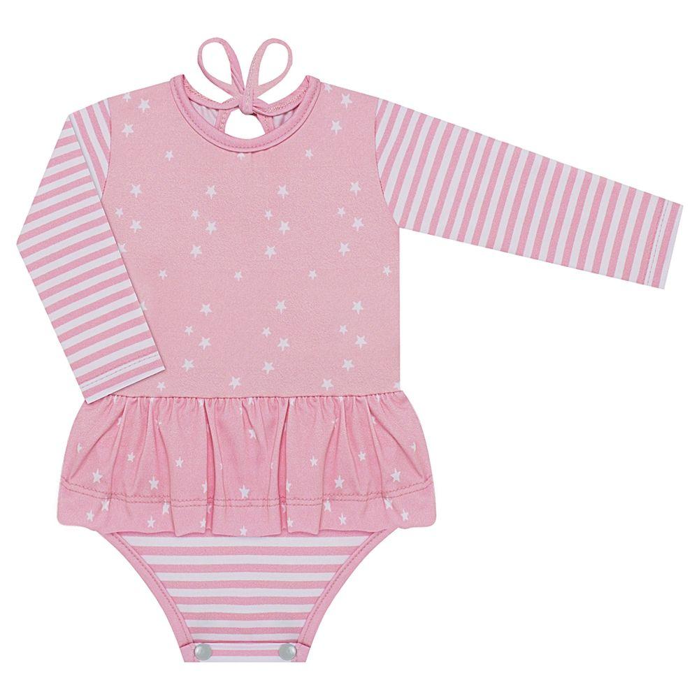 BBG0720004-A-moda-praia-bebe-menina-maio-manga-longa-estrelinhas-rosa-baby-gut-no-bebefacil-loja-de-roupas-para-bebes